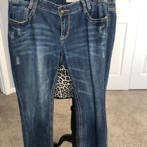 DKNY jeans with distress look multiple pockets